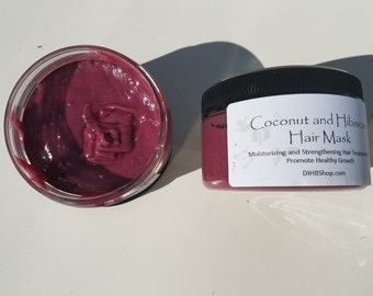 Coconut and Hibiscus Hair Mask: Moisturizing and Strengthening Hair Treatment to Promote Healthy Growth