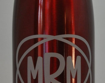 Monogrammed Double Insulated Stainless Steel Water Bottle
