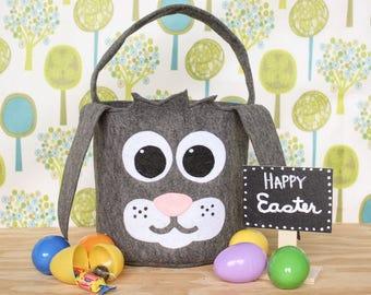 Bunny Easter Basket, Woodland,Woodland animals, Easter basket ideas, Easter gift ideas, Easter bucket, first Easter gift,
