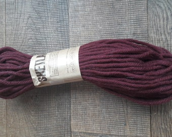 Thick wool bordeaux red