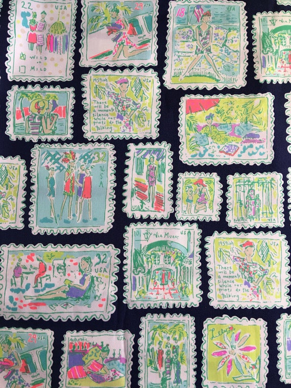 Rare And Htf 3 Patches Of Lilly Pulitzer Sample Postage