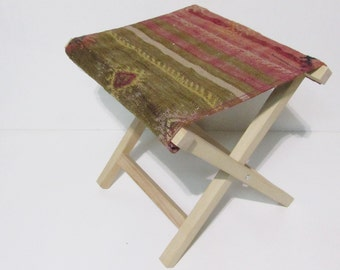 kilim stool rustic bedroom furniture kilim chair home furnishings kilim footstool boho chic bedroom kilim ottoman boho bedroom decor Z056