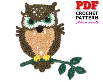 Crochet | Crochet Pattern | Applique pattern | Crochet OWL
