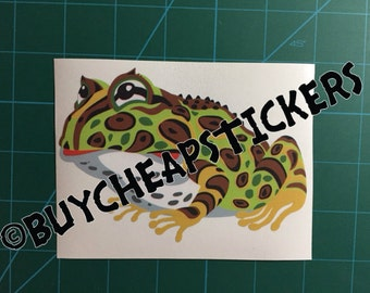 Pacman Frog Decal/Sticker 4X5