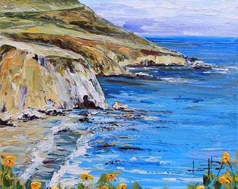 Landscape Commission, Oil Painting, Custom Art, Large Landscape, Made to Order, commission Painting, by San Francisco Area Artist Lisa Elley