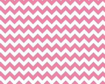 Hot Pink Small Chevron Fabric by Riley Blake. 100% cotton. Hot Pink Small Zig Zag Chevron. C340-70