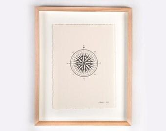 Compass Illustration Print