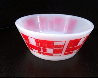 Anchor Hocking Fire King Milk Glass Cereal Bowl made in U.S.A.
