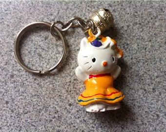 Hello Kitty Keychain / Plastic  my Kitty Cat  Key Ring Key Chain