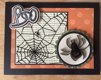 Quilled Spider Halloween card