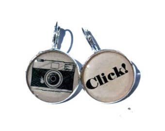 CAMERA JEWELRY - camera earrings - photographer earrings - PHOTOGRAPHER gift
