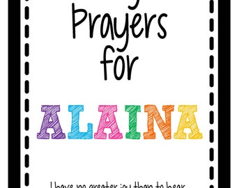 PERSONALIZED Prayers for My Children Scripture Cards - Digital Download