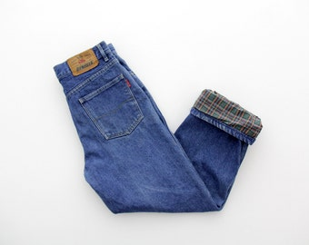Vintage Jeans // Lined Distressed Men's Jeans // Wild Jeans // Sanforized Shrunk // Boyfriend Jeans