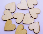 Wood Buttons, Plain Wood Heart Buttons , 10 pieces, 20mm Natural Wood Buttons