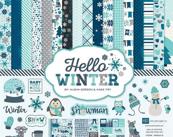 Echo Park Hello Winter Collection Kit