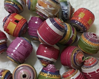 Paper Beads Loose Mixed Lot
