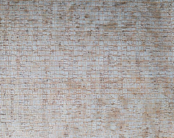 Natural Cork Fabric - Caiman Silver