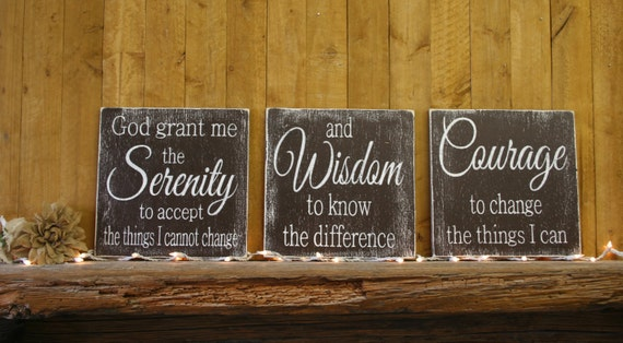 Wood Sign Serenity Prayer God Grant Me The Serenity