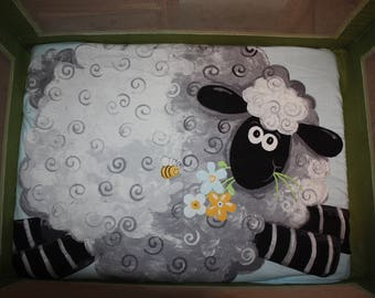 Fitted Pack n Play Sheet - Lambs
