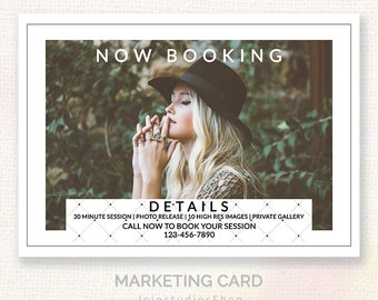 Mini Session For Photographers - Modern Clean Design - Instant Download Marketing Template - Layered PSD c132