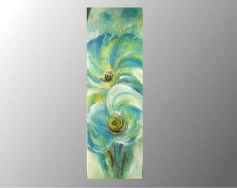acrylic painting abstract flowers