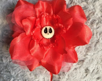 Headband big flower skull