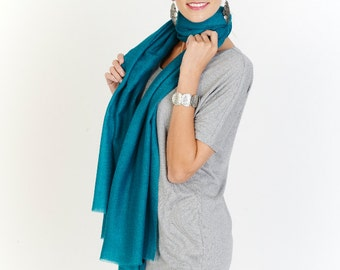 Turquise Modal Cashmere Wrap