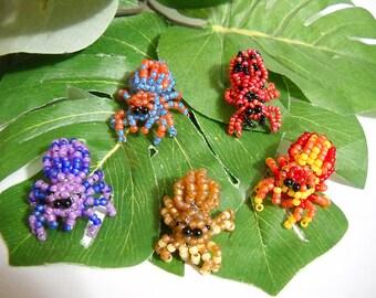 Handmade Glass Beaded Phidippus Baby Mini Jumping Spider Figurine