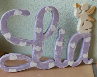 Türschild // Fee  // doorplate // Holz // shabby chic // Geschenk Kind // present child