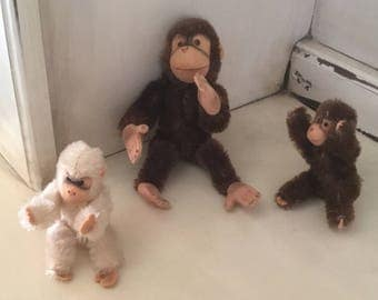Vintage Steiff 3 Monkeys, Jocko and friends