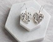 Heart drop earrings  silver heart drop earrings  heart earrings  gift for best friend  gift for sister  mothers day  handmade