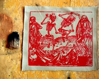 Macabre dance danse screenprinting red