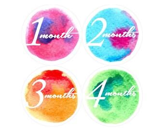 Monthly Baby Milestone Stickers Baby Girl Baby Shower Gift One-Piece Baby Stickers Monthly Baby Stickers Baby Month Sticker