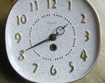 Bayard Retro Ceramic Clock Original Key French Vintage