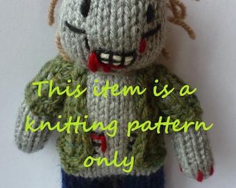 PDF knitting pattern: Zombie