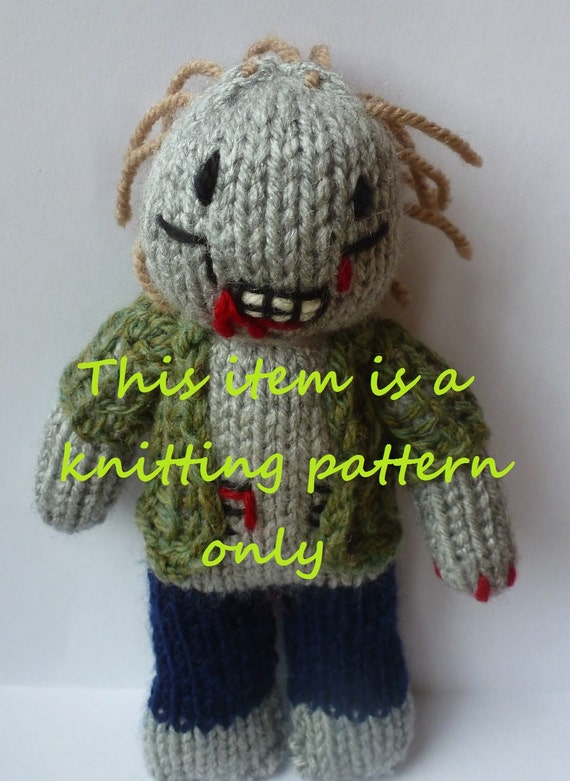 Zombie Knitting Pattern : Pdf knitting pattern zombie