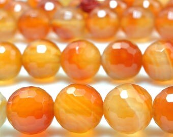 37 pcs of Natural Rainbow  agate faceted round beads in 10mm