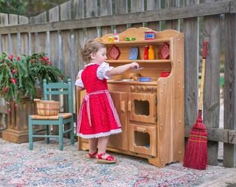 Waldorf Wooden Toy Kitchen-Hardwood Play Kitchen-Play Stove- Hardwood toy stove-Hardwood Toy Kitchen-Child's toy kitchen-Wood Kitchen