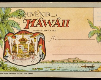 Vintage Hawaiian postcard set (booklet style) of 17 beautiful Hawaiian scenes
