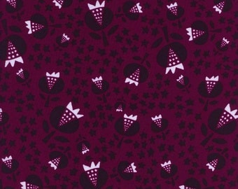 Thistle in Cerise Rayon- Flower Shop by Alexia Abegg for Cotton + Steel