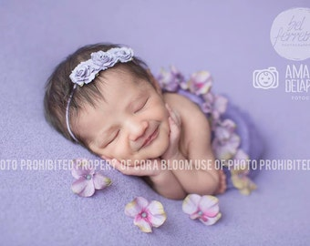 Flower Headband, Purple Headband, Purple Flower, Baby Headband, Newborn Headband, Photography Prop, Flower Headband, Flower Hairband