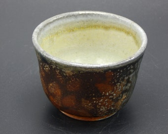 Layers of Leaves Tiny Bowls, Handmade Wood and Soda Fired Pottery - Small Bowl - Whiskey Cup