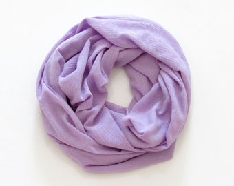 Girl's Infinity Scarf. Child Lavender Scarf.