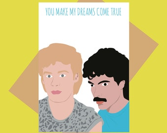 Hall & Oates card - You make my dreams come true