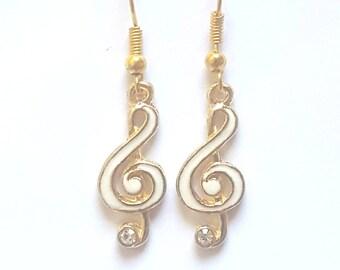 Music Clef Earrings