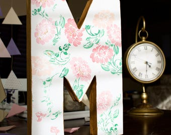 Hand-painted Floral Monogram