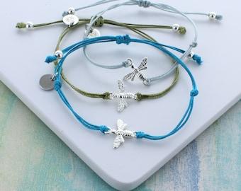 Silver Bee Friendship Bracelet