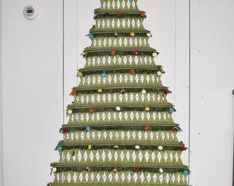 Wall Hanging Christmas Tree tree wall hanging | etsy