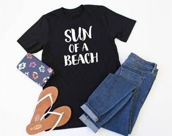 Sun of a Beach Tshirt - Womens Clothing. Womens Tshirt. Graphic Tee - Tickled Teal