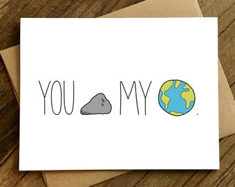 Anniversary Card - Card for Girlfriend - Card for Boyfriend - You Rock My World.